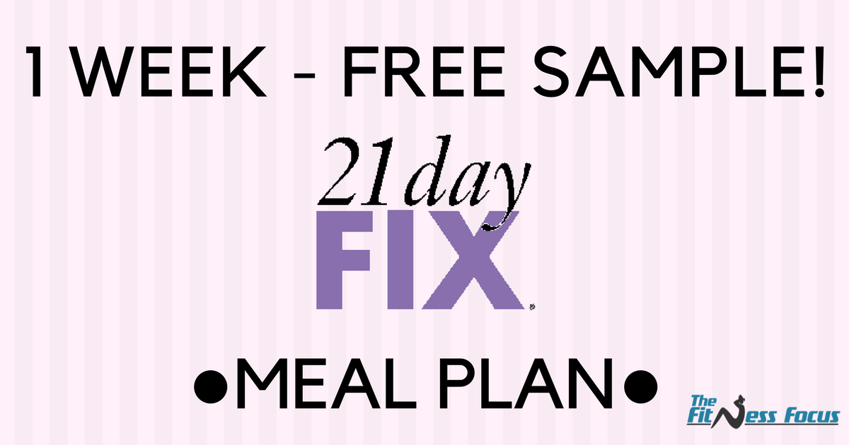 Your Sample  Day Fix Meal Plan Container Sizes  Grocery