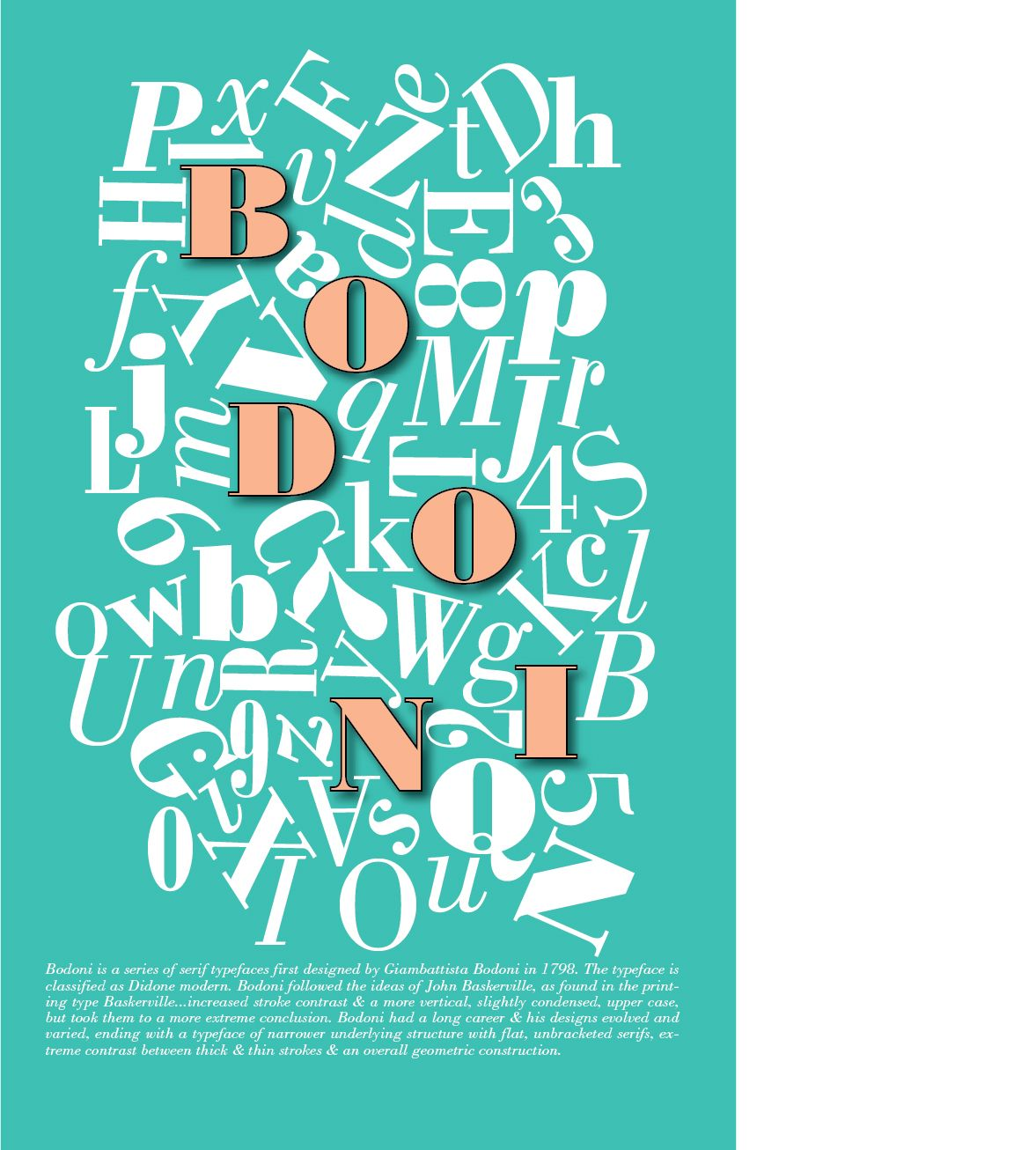 Bodoni Font Poster (With Images)