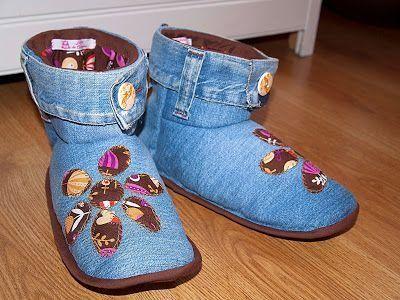 Tutorial zapatillas vaqueras para andar por casa patr n gratuito manualidades red - Zapatillas andar por casa originales ...
