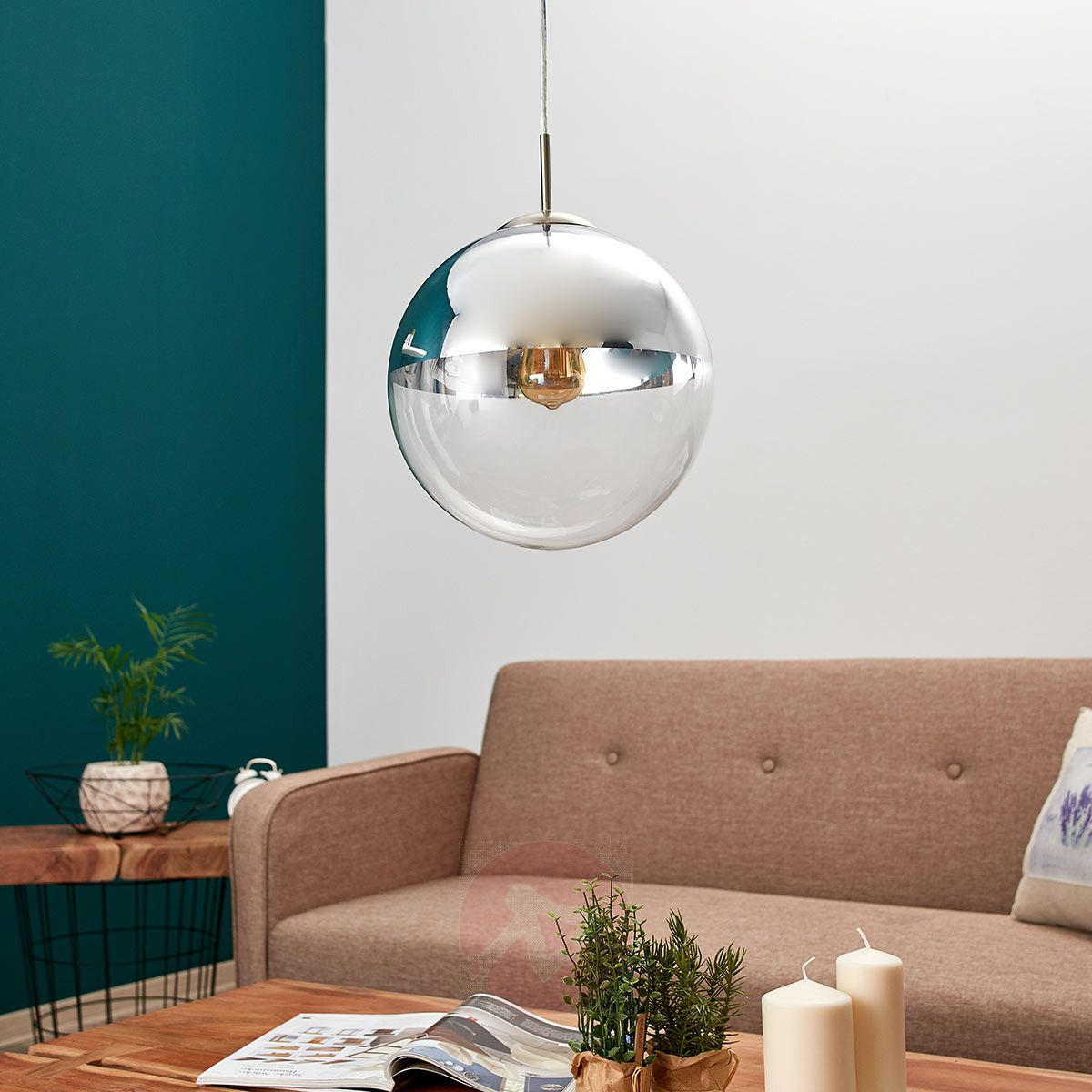 Moderne Hängeleuchte von LINDBY Klar | Glaskugel ...