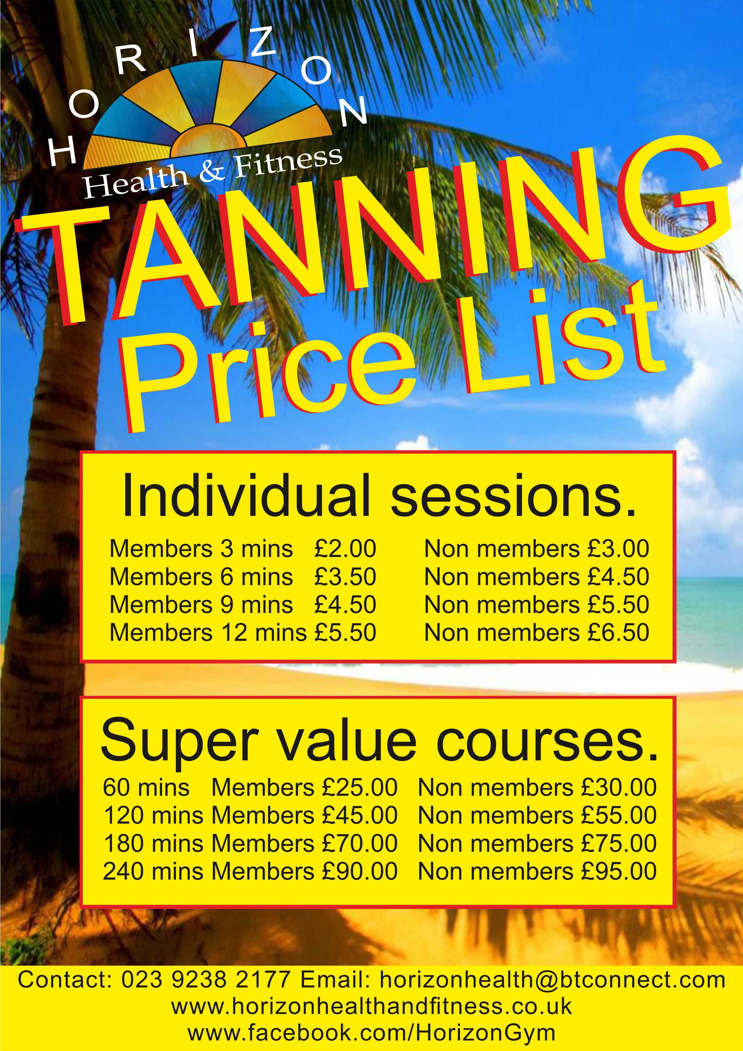 Latest prices for our sunbed. tanning sunbed health