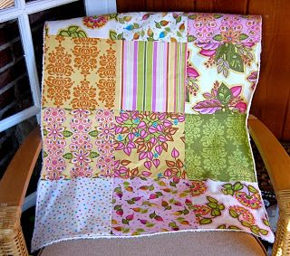 Fat Quarter Baby Quilt & Burp Cloths - The Cottage Mama