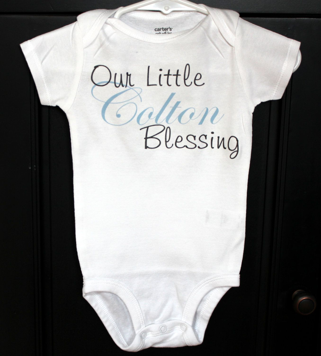 Personalized baby boy onesie our little blessing 1600 via personalized baby boy onesie our little blessing negle Gallery