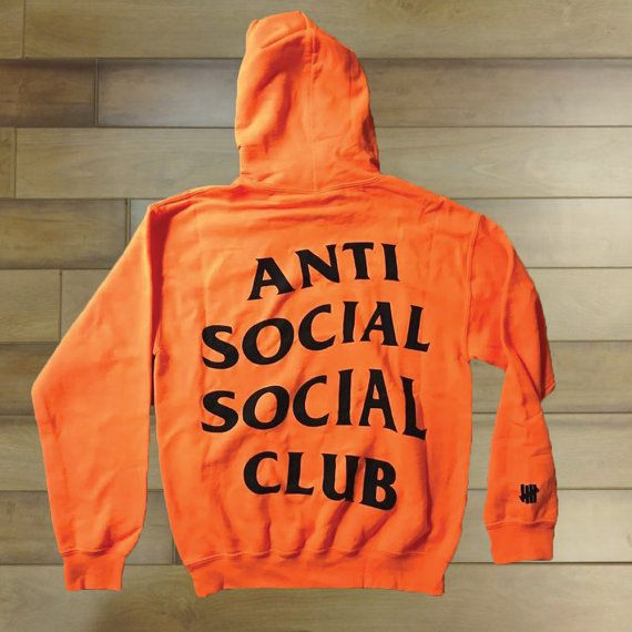 0d8000c6733e Paranoid AntiSocial Social Club Hoodie Anti Social by FamouLife (Orange - L)