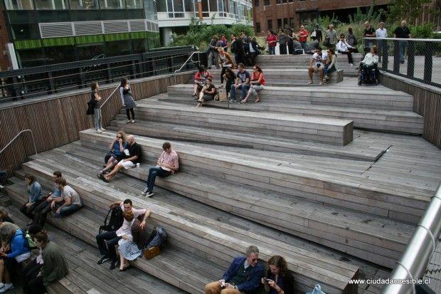 Anfiteatro high line ny disseny universal rampas for Escalera discapacitados