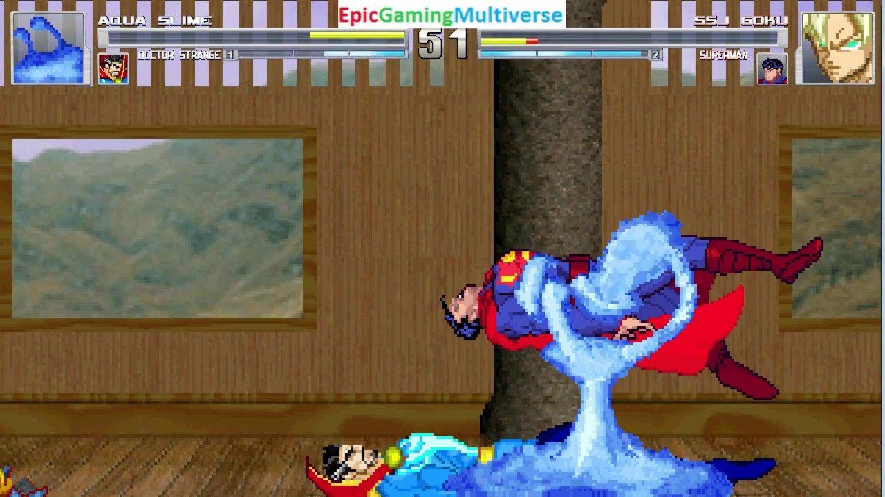 Doctor Strange And Aqua Slime VS Superman And Super Saiyan