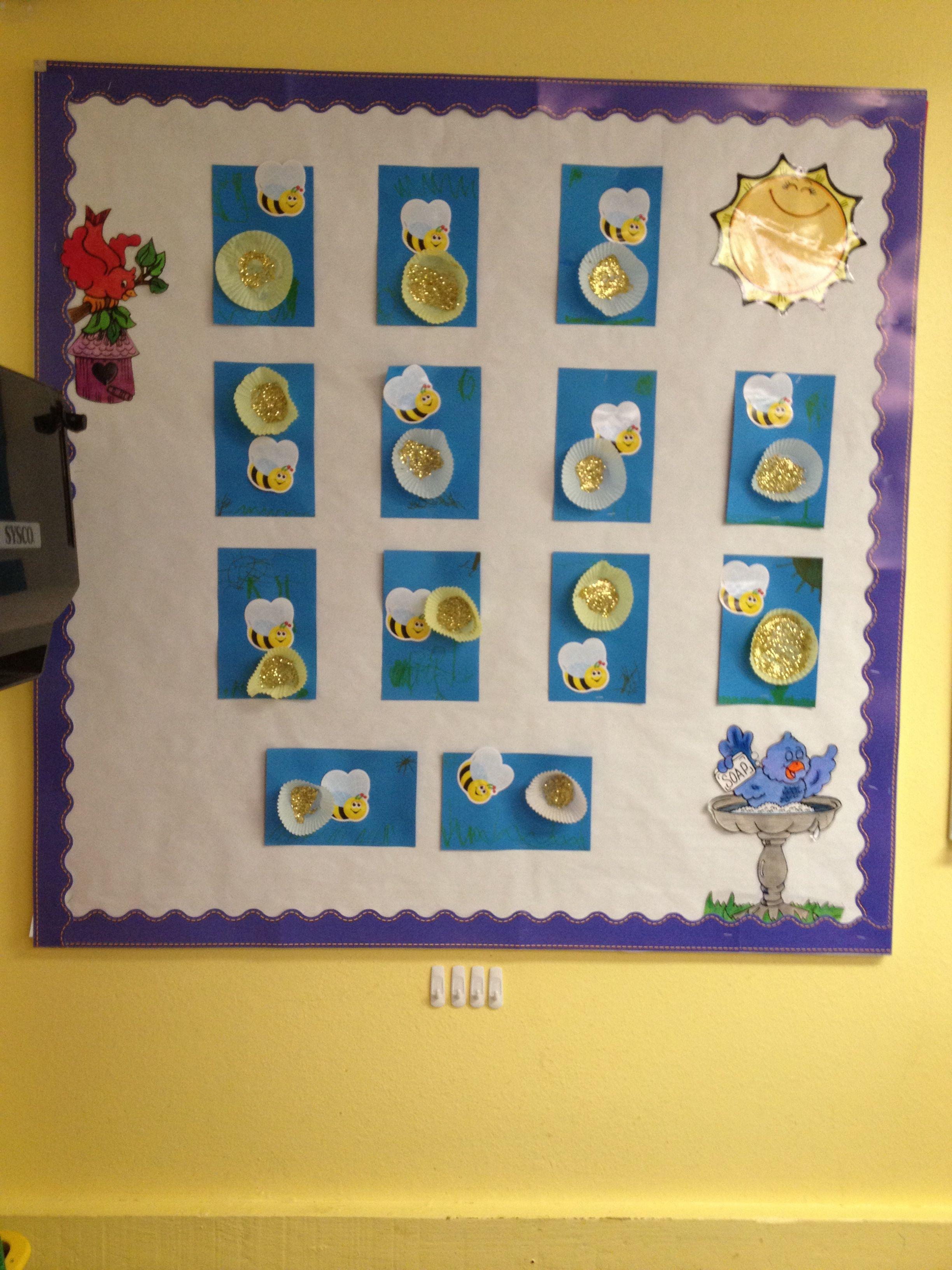 Pre Planned Flower Garden Designs: My Preschool Bulletin Board For May/Spring. Bee