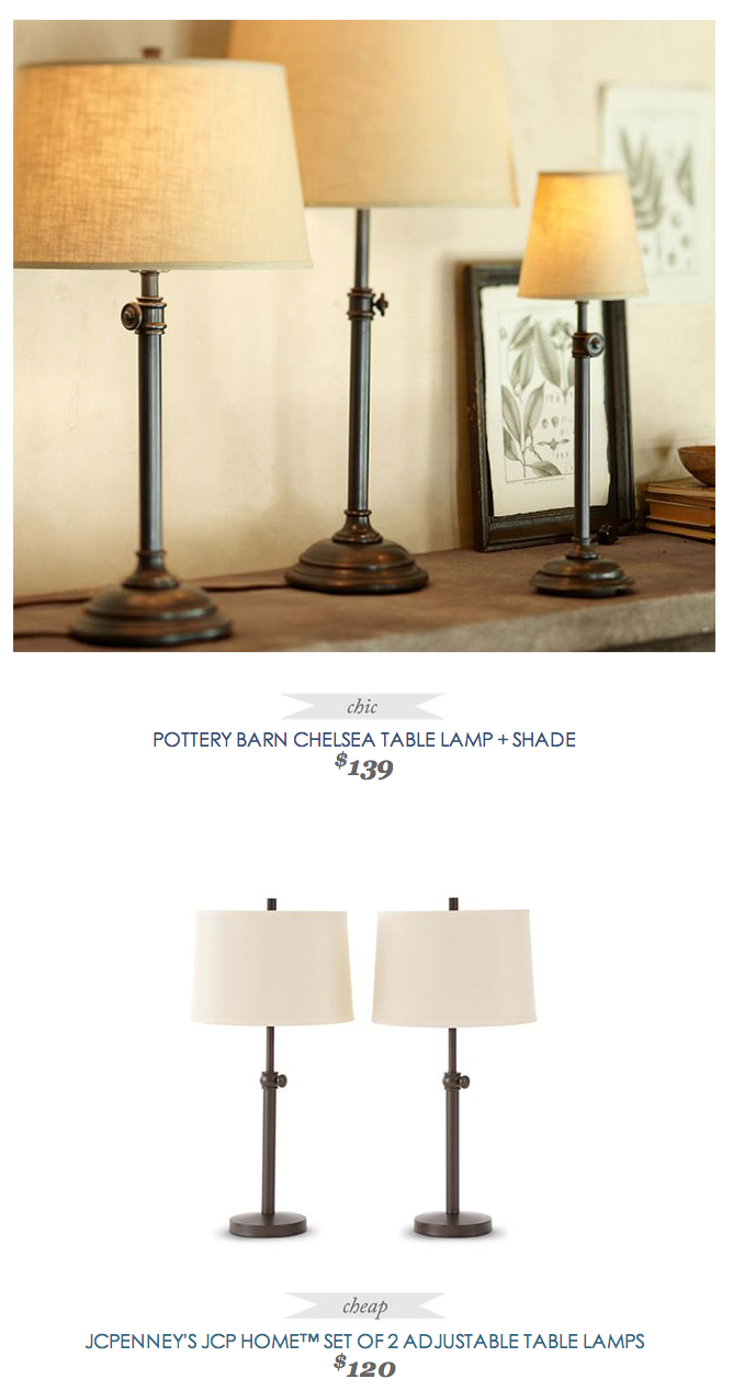 Jcpenney Lamp Shades Cool Potterybarn Chelsea Tablelamp  Shade $139  Vs  Jcpenney Jcp Home Inspiration Design
