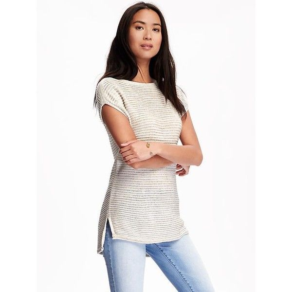 Old Navy Textured Tunic Sweater For Women ($20) ❤ liked on ...