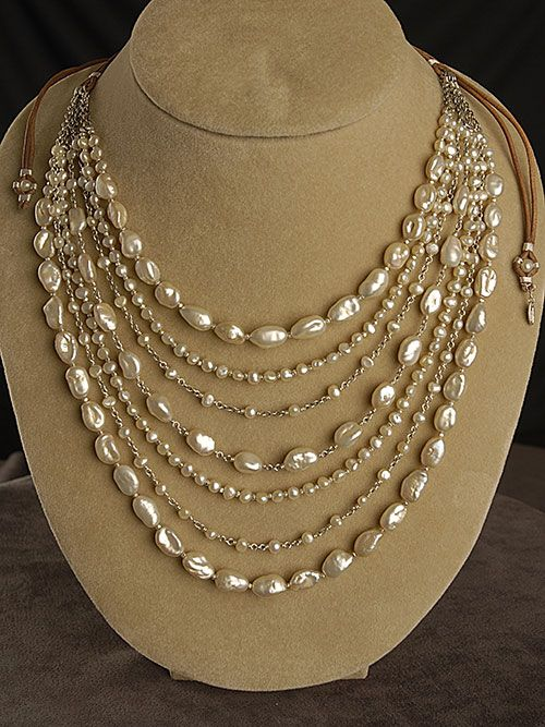 I Love White The Design Of This Layered Necklace With Its