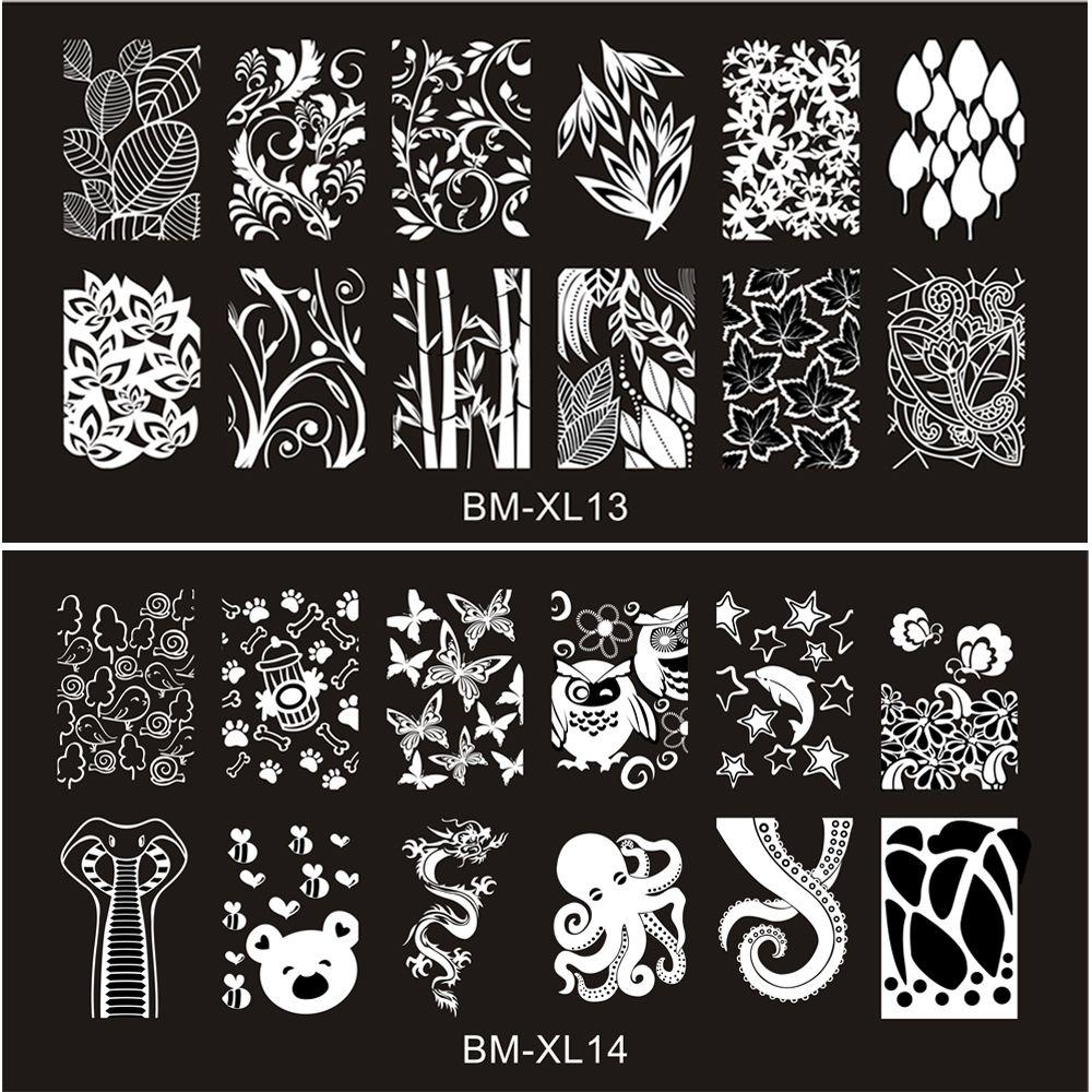 2016 neue Serie BM Nail Stamping Platten DIY Bild Konad Nail art ...