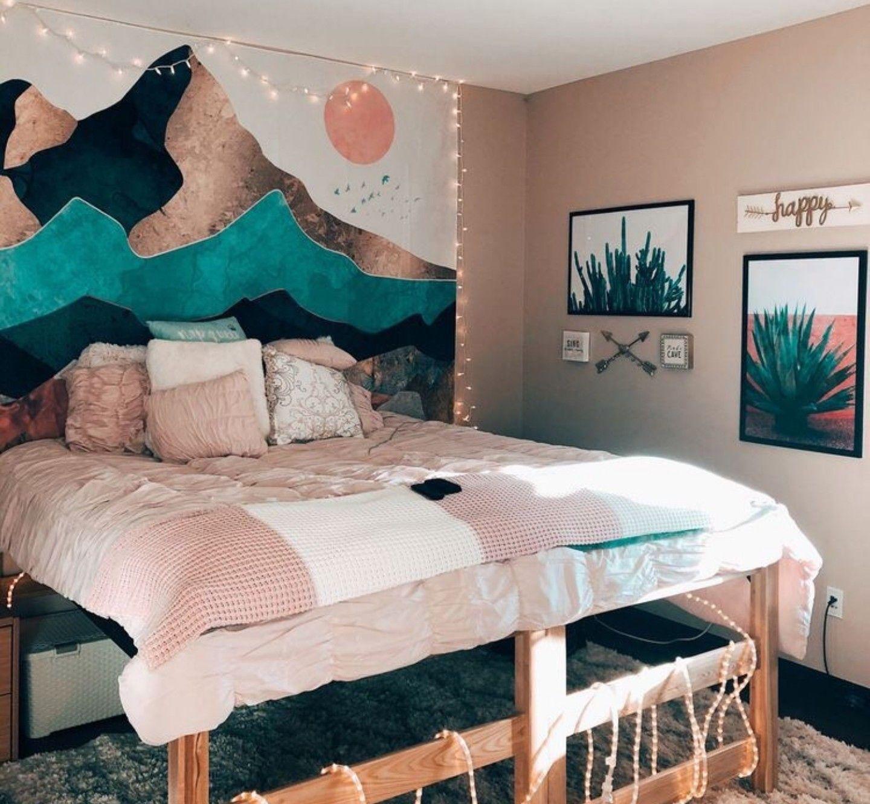 Retro Slaapkamer Ideeen.Pin Van Laylah Reese Op Room Decor Slaapkamerideeen