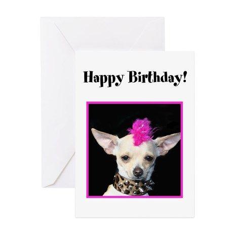 Happy Birthday Chihuahua Greeting Cards Pk Of 20 Birthday Cards
