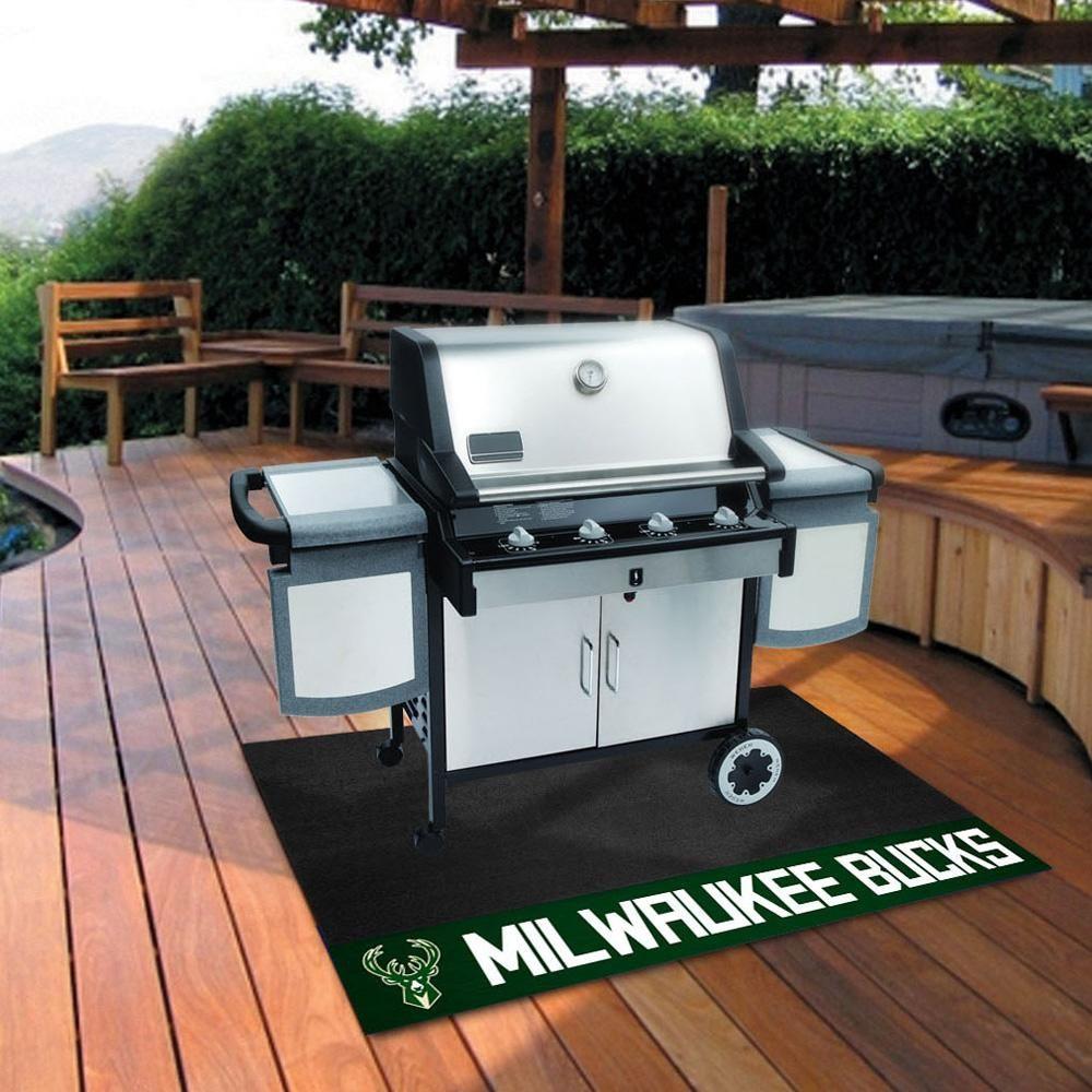 Milwaukee Bucks Bbq Grill Mat