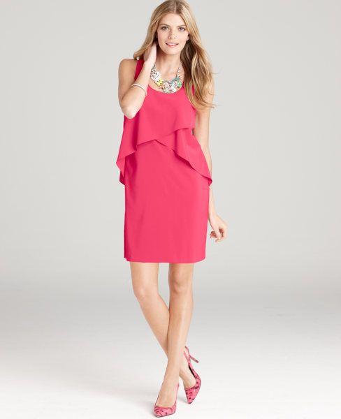 Soft Cascades Sleeveless Shift Dress