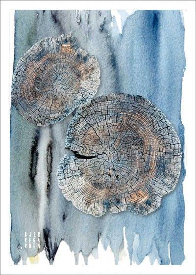 Wood Circles Poster