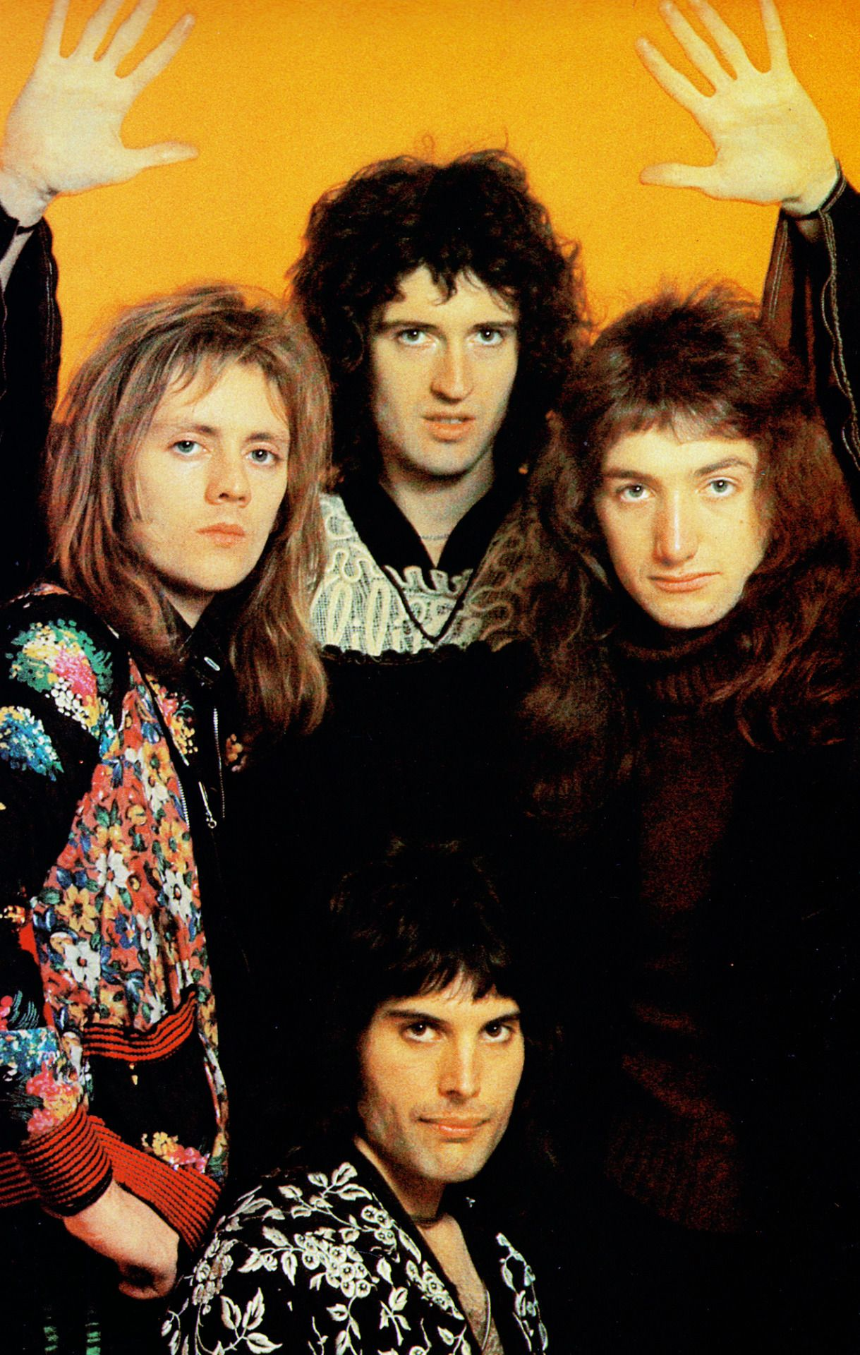 Queen Band Freddie Mercury Brian May Roger Taylor John Deacon 1974  Poster