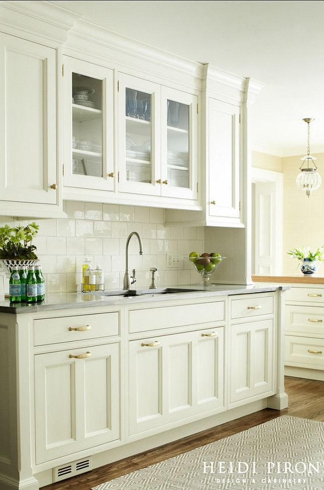 What About Using The Larger Subway Tile Vintage White Kitchen