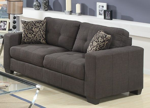 Lacey Fabric Sofa Grey