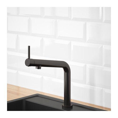 BOSJÖN Mischbatterie\/Küche, Metall, gebürstet, schwarz Kitchen - ikea küche metall