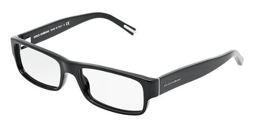 5626b3a176b9 Dolce   Gabbana Eyewear  model 3104 - Men Ophthalmic Collection.  Rectangular Glasses with Black Frame in Plastic.