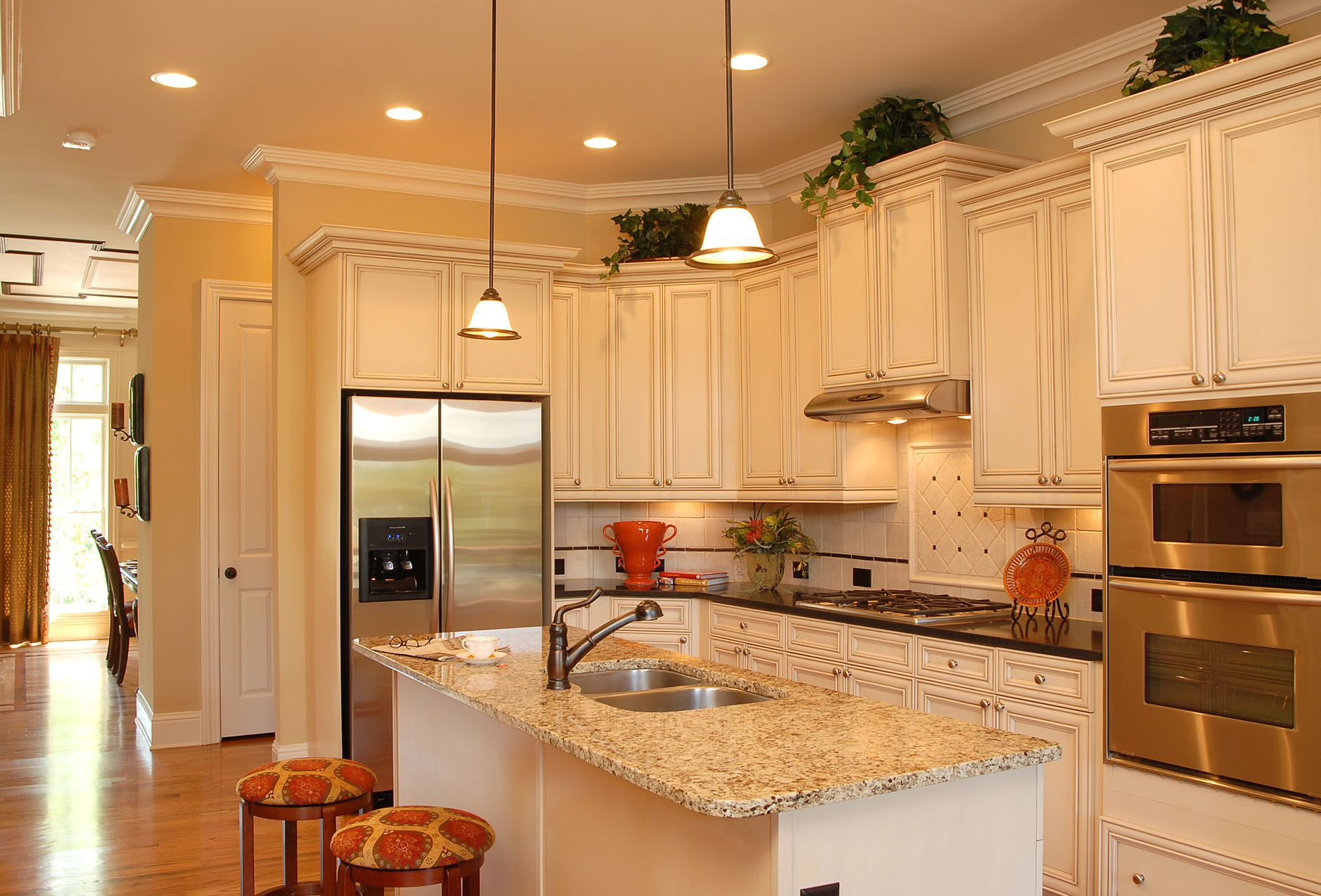 White Cabinets And Satin Nickel The Providence Group Atlanta