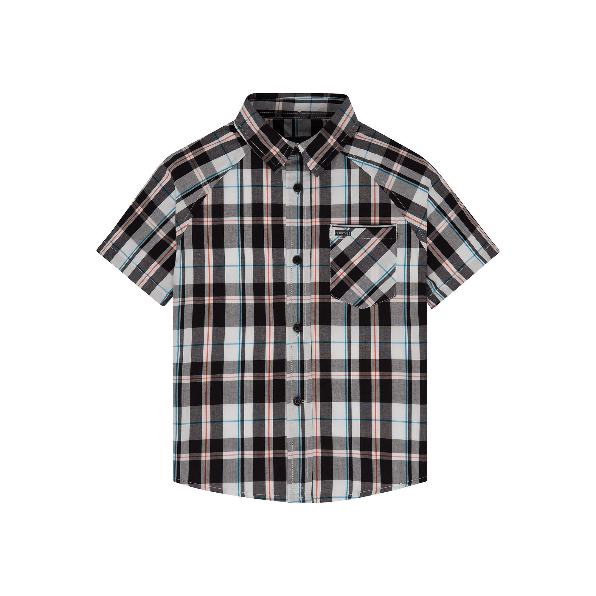 19e9417e8 Toddler Boy Hurley Raglan Woven Plaid Button-Down Shirt, Size: 3T, Grey  (Charcoal)