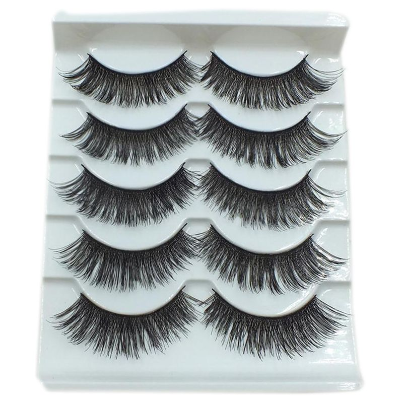 5 Pairs Pro Black Long Thick Cross False Eyelashes Price 995