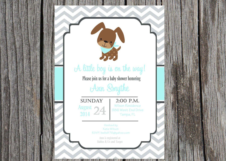 Puppy baby shower invitation puppy invitation puppy dog baby puppy baby shower invitation puppy invitation puppy dog baby shower baby boy shower filmwisefo