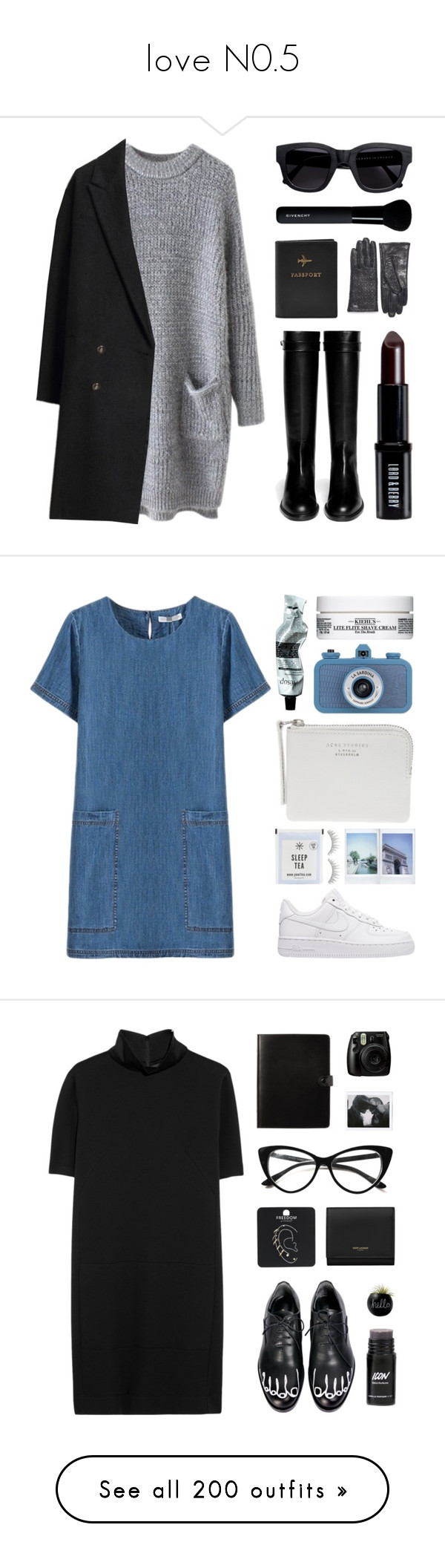 love N0.5 by angel1202003-1 on Polyvore featuring mode, Givenchy, Les Prairies de Paris, Lord & Berry, FOSSIL, Acne Studios, Tommy Hilfiger, NIKE, shu uemura and The Webster