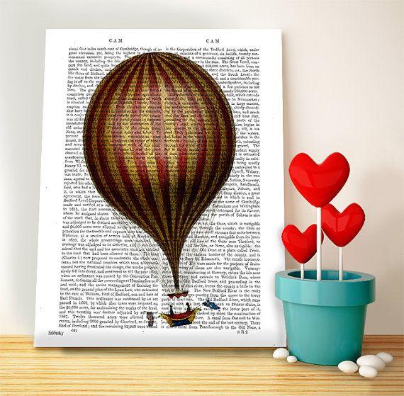 Royal Nassau Hot Air Balloon Print Upcycled by DottyDictionary