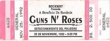 el famoso concierto de los GUNS N' ROSES en 1992