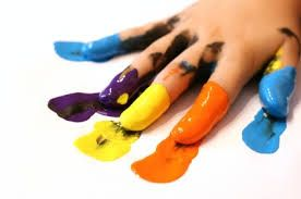 Fun with paints. Developing motor skills