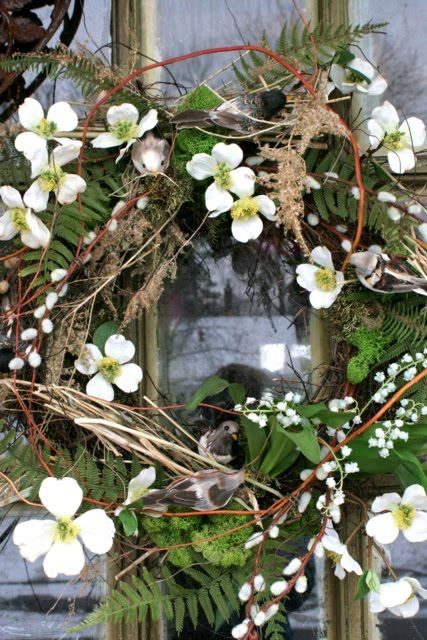 Wreath With Dogwood Blossoms