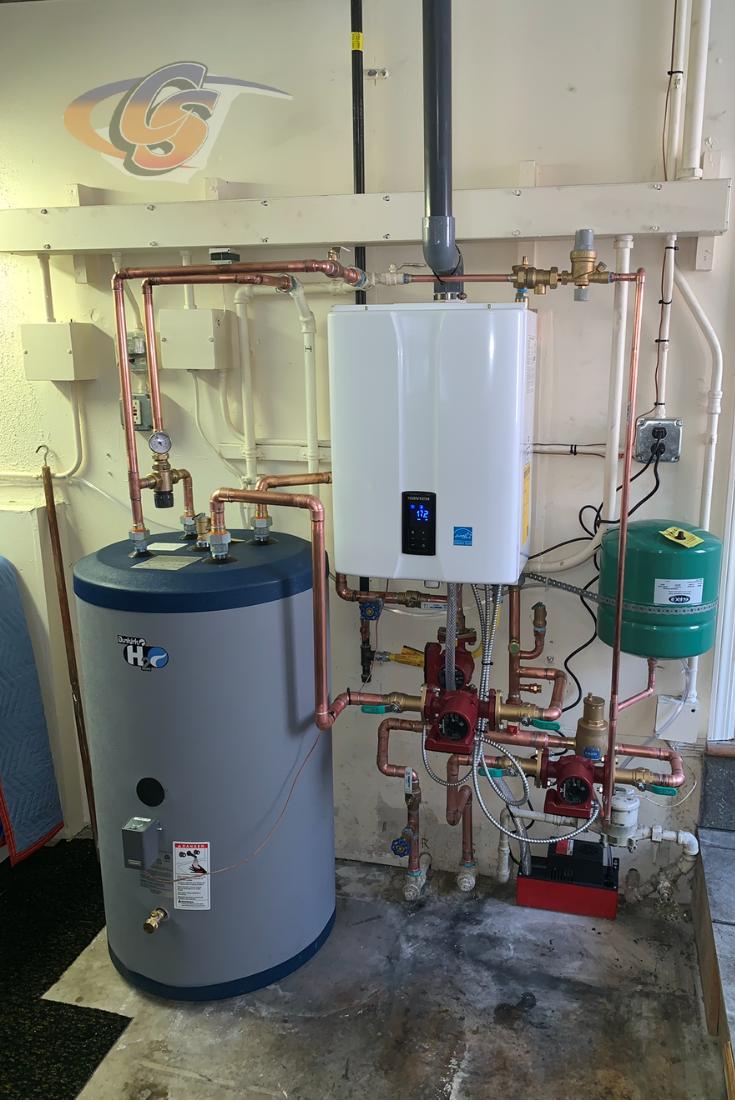 Quite The Upgrade Indirect Water Heater Water Heater Kitchen Appliances