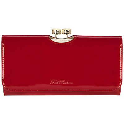 26bc0c49eaf Buy Ted Baker Maggye Bow Bobble Patent Matinee Purse, Dark red online at  JohnLewis.com - John Lewis