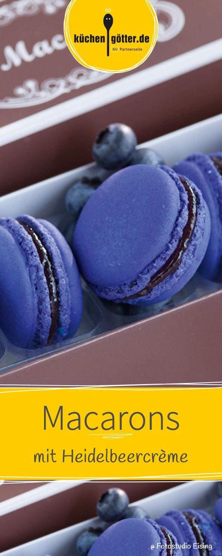 Heidelbeer-Macarons #donutcake