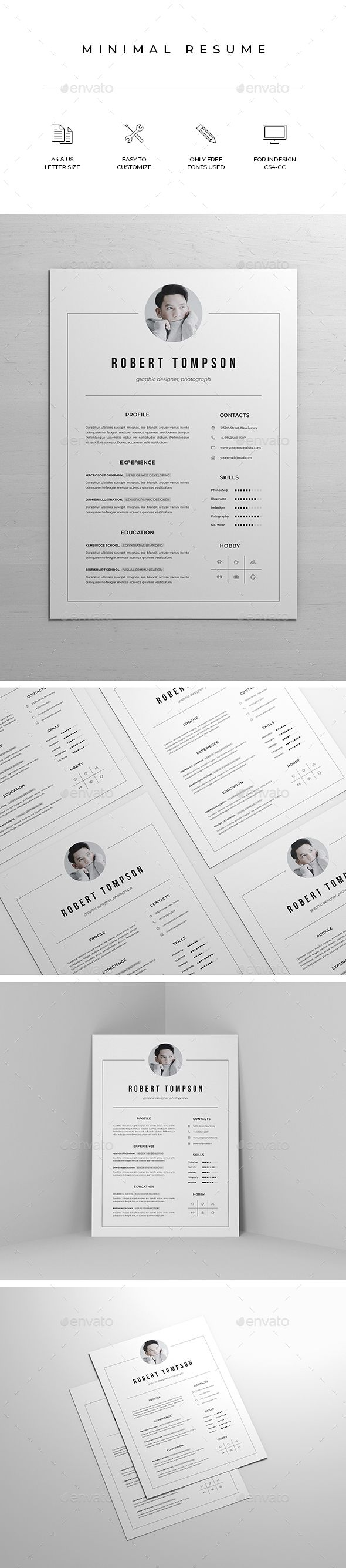 Clean Resume/CV Resumes Stationery Graphic design