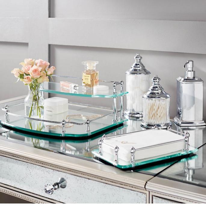 Belmont Personalized Vanity Trays Frontgate In 2021 Bathroom Decor Diy Bathroom Bathrooms Remodel