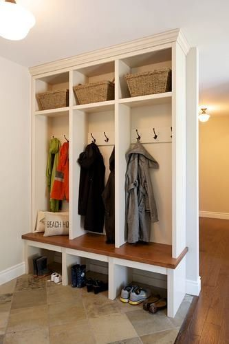 Small Mud Room Built In