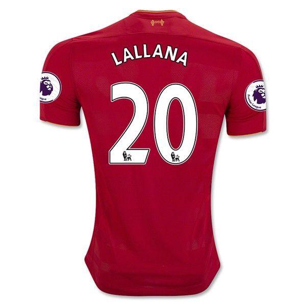 Liverpool 2016/17 Home Men Soccer Jersey LALLANA #20