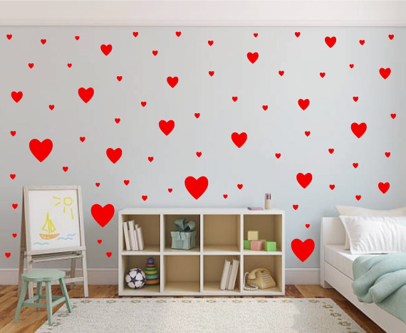 Love Is All Around With Our Red Heart Wall Decals Whimsidecals Com Love Loveyou Loveyourself Lovequ Heart Wall Decal Kids Bedroom Wall Decals Heart Wall