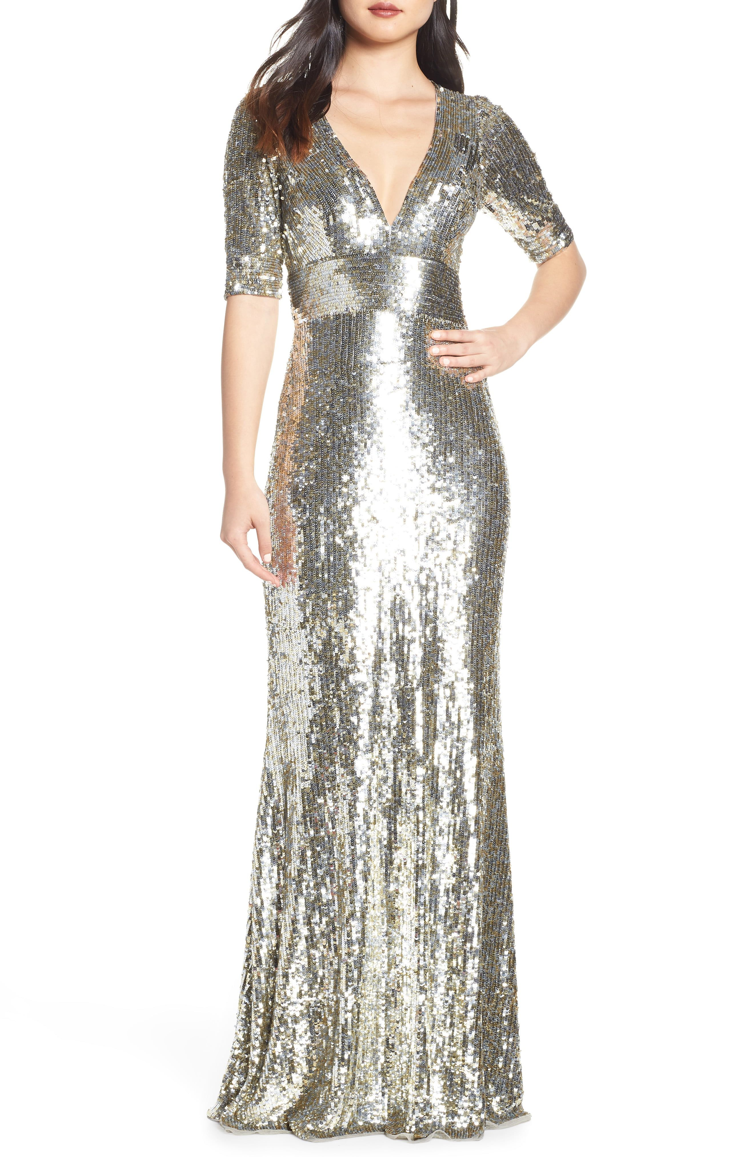 Mac Duggal Sequin Stripe Evening Dress Nordstrom Evening Dresses Sparkly Dress Nordstrom Dresses [ 4048 x 2640 Pixel ]