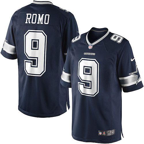 mens cheap nike 9 tony romo limited navy blue throwback alternate nfl dallas cowboys jersey