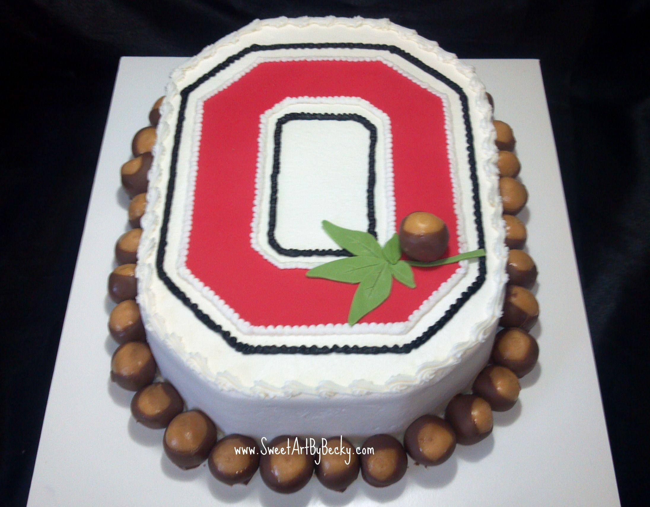 Awesome Ohio State Buckeyes Cake With Images Ohio State Cake