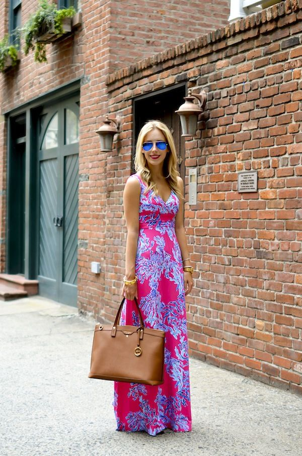 43cb0c84633 Katie s Bliss wearing a Lilly Pulitzer maxi dress that s perfect for the  city or the beach.