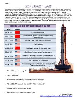 cold war space race info worksheet space race cold war and worksheets. Black Bedroom Furniture Sets. Home Design Ideas