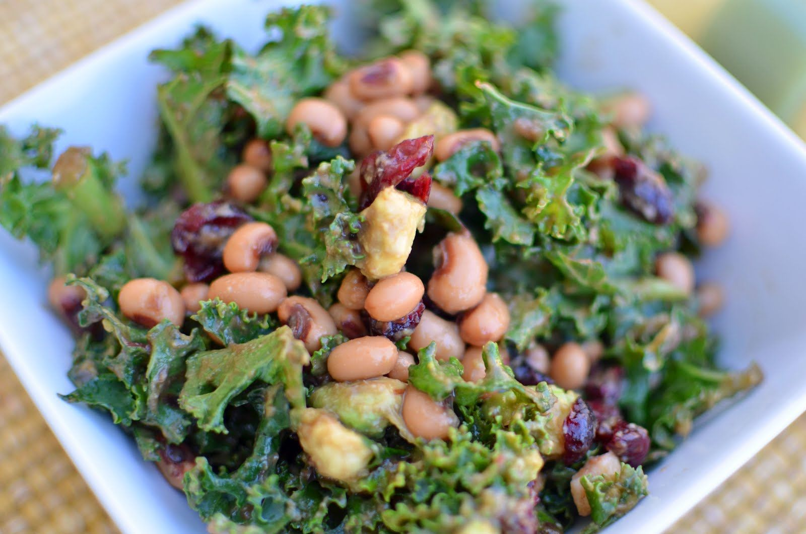 A Kickin' Cranberry & Kale Salad   bring joy