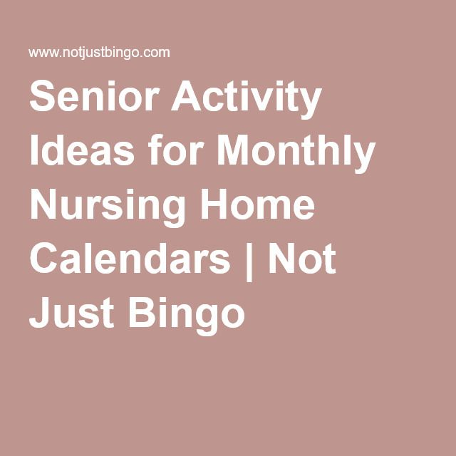 Discover Creative And Fun Senior Activity Ideas To Add To Your Nursing Home  And Assisted Living Activity Calendar.