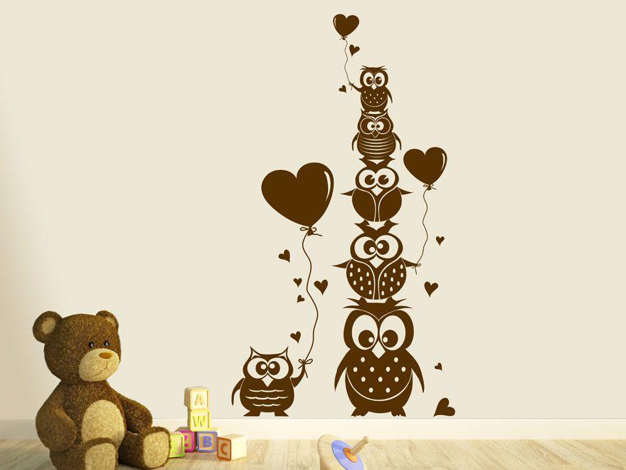 Lovely Wandtattoo Eulen im Kinderzimmer